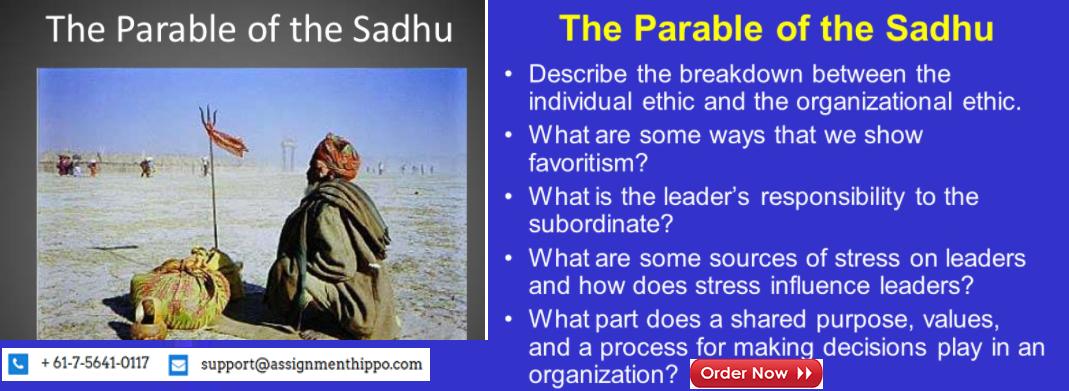 parable of sadhu case analysis