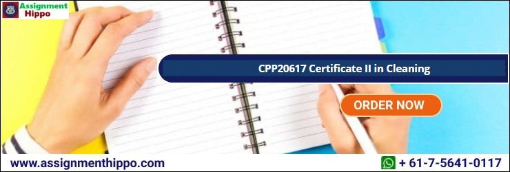CPP20617 Certificate II in Cleaning
