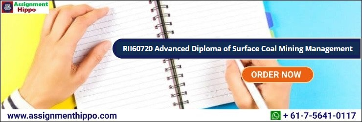 RII60720 Advanced Diploma of Surface Coal Mining Management