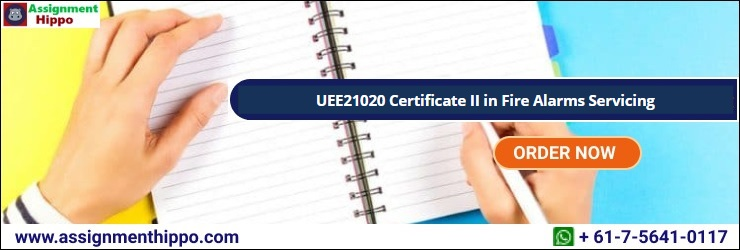 UEE21020 Certificate II in Fire Alarms Servicing